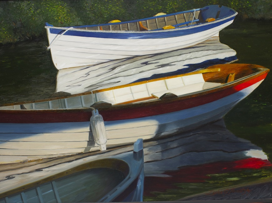 Wooden Boats and Water Reflections Oil Workshop with Luke J Tornatzky