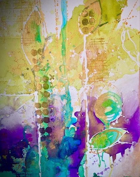 Paint Splash Contemporary Acrylic workshop Tracy Felix