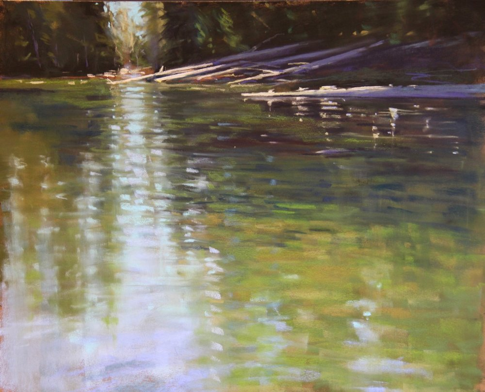 Sparks Lake Reflection 19x23 pastel.jpeg