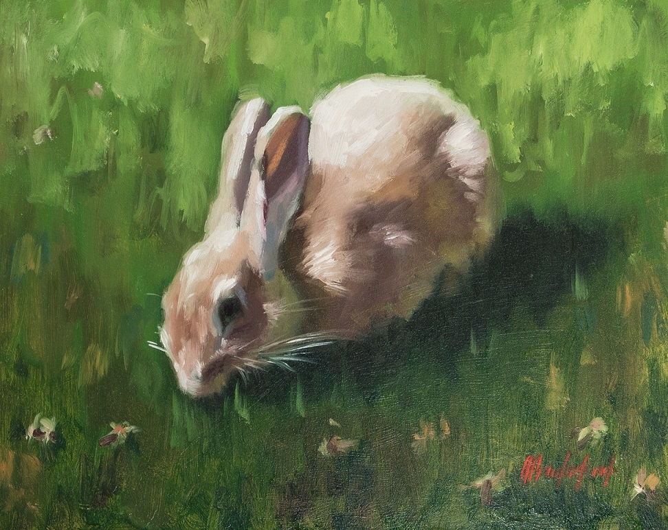 Students will paint this adorable bunny, just in time for Easter!