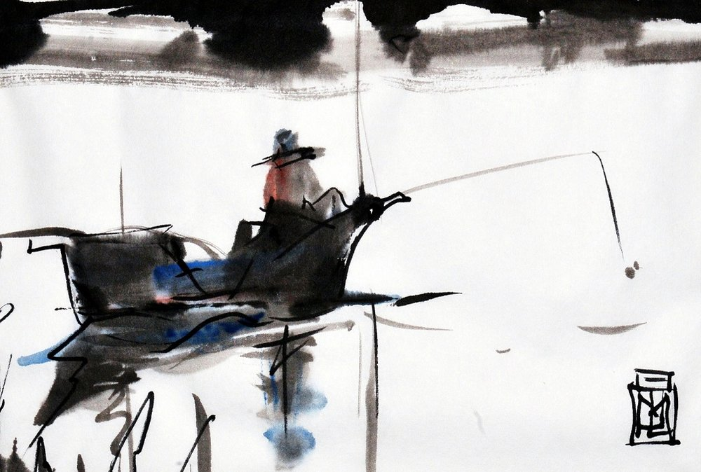 Fishing sumi-ink - small.jpg