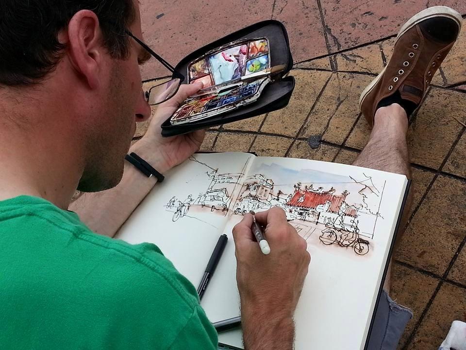 Sketching in Penang.JPG