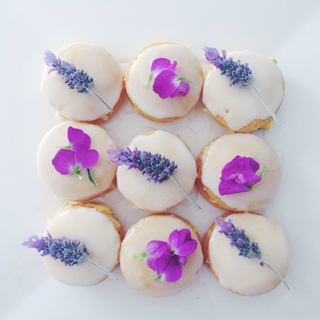Fun with flowers! #lavender #floral #baking #lemon #icing #petals #foodie #fun #flowers #purple #passionfruit #flora #shortbread #babyshower #baked