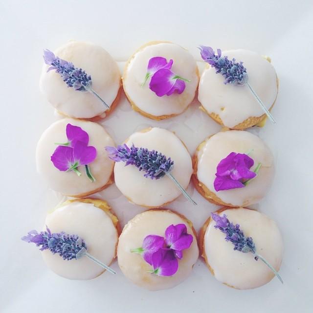 Fun with flowers! #lavender #floral #baking #lemon #icing #petals #foodie #fun #flowers #purple #passionfruit #flora #shortbread #babyshower #baked