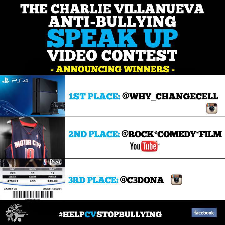 Numbskull has also won second place for the Charlie Villanueva Anti-bullying Video Contest.