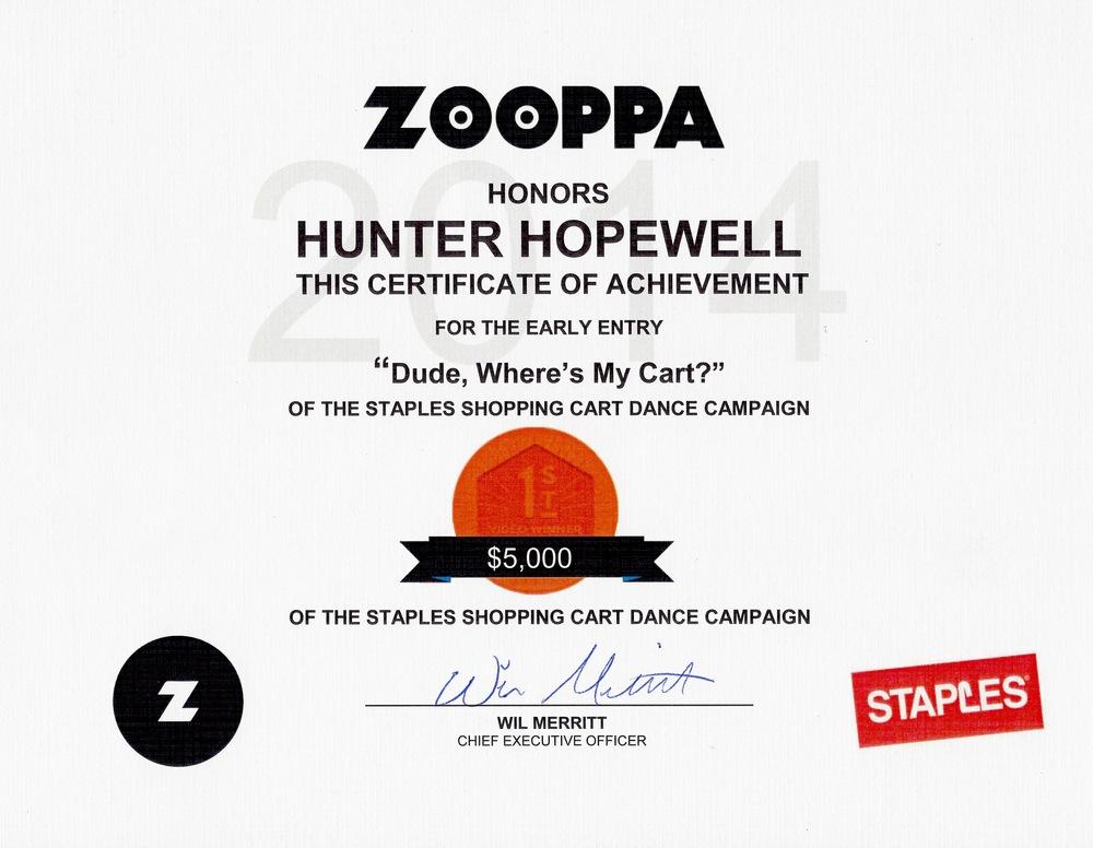 Zooppa Staples Certificate.jpg