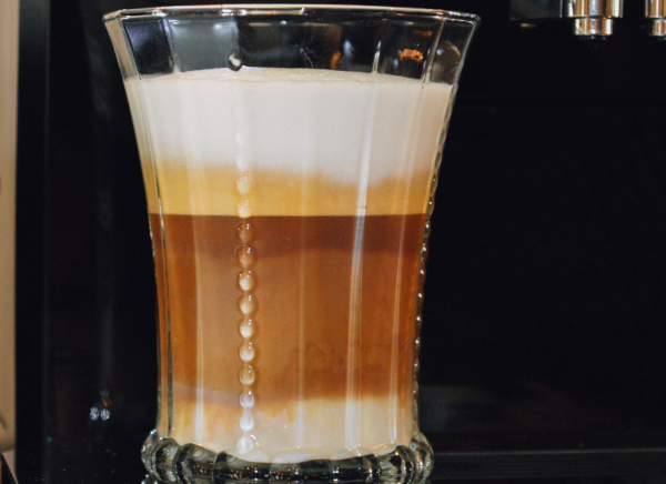 This is a Macchiato.  Many of the Jura machines make all types of coffees, for all your coffee fun.