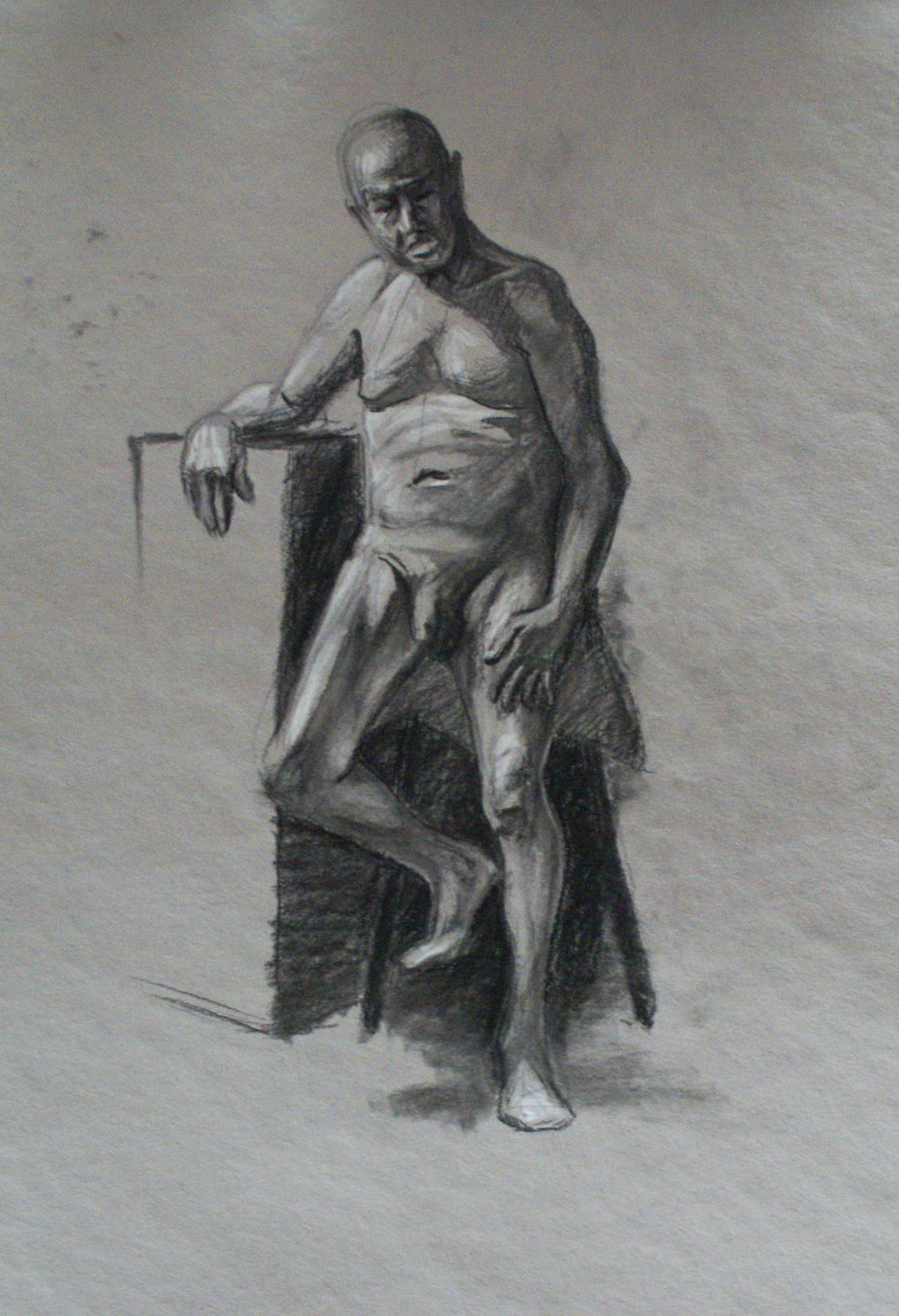 Orlando Rodriguez. Anatomy and Figure Drawing II. Charcoal on paper 18 x 24 in.