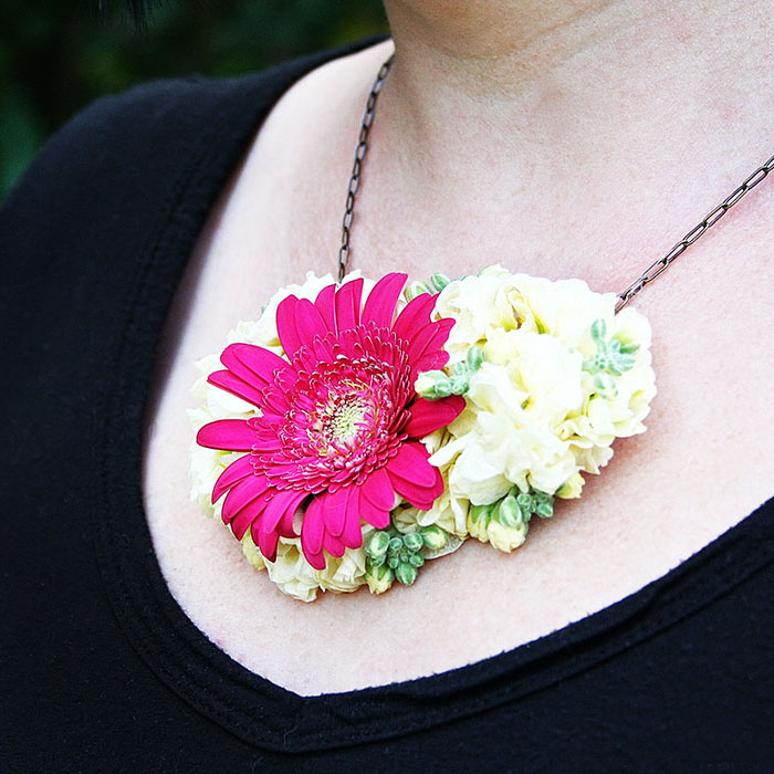 Fresh Flower Necklace Diy Little Yellow Couch