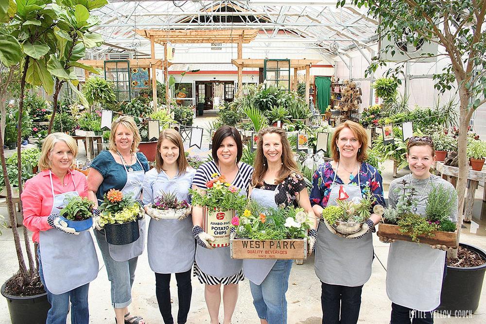 Amy, Elizabeth, Dorothea, Karen, Zandra, Maura & Kat. All happy planters.