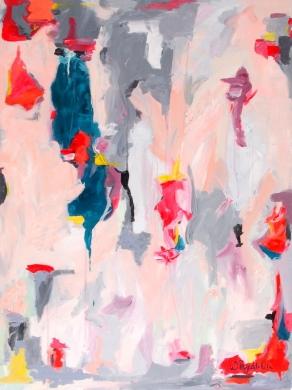 """Dusk in Verona,"" by Whitney Reynolds Orr. Acrylic, $890 through Zatista."