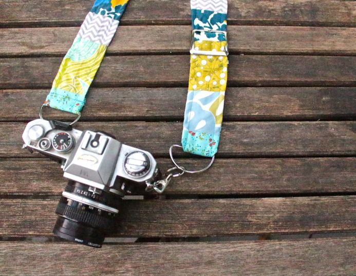 DIY Camera Strap by Nicole Stevenson.  Photo courtesy, Dear Handmade Life.