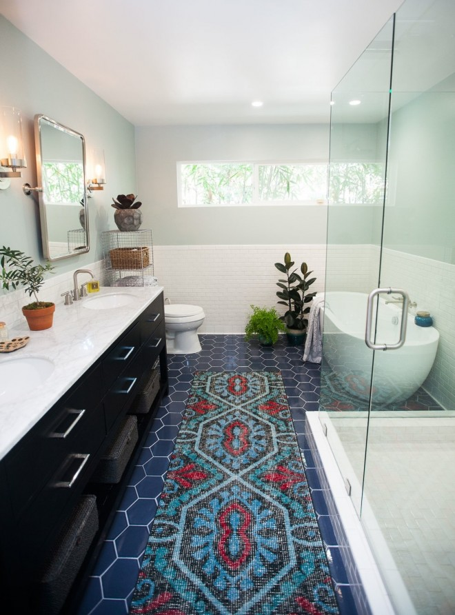 See Jen's full  bathroom renovation