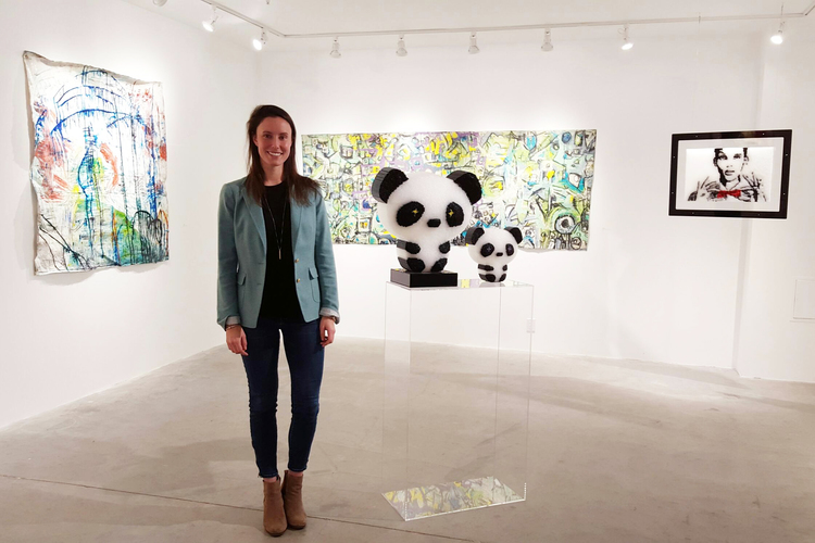 Abigail Ogilvy in her gallery in the SOWA arts district, Boston.