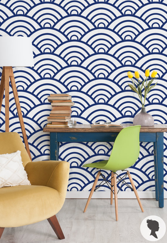 """Scallop Pattern"" wallpaper by Livettes"