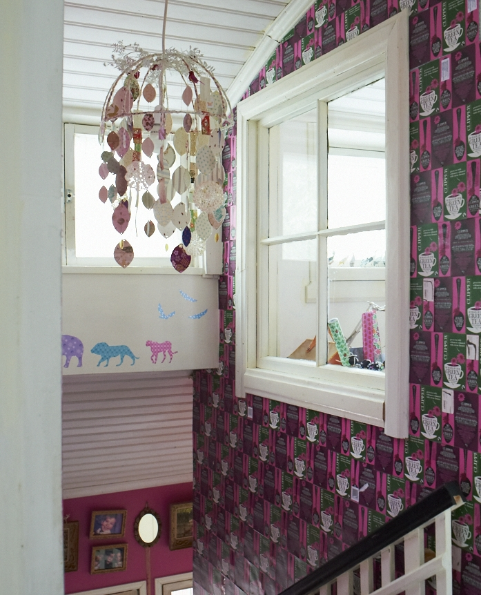 Image taken from Home for Now by Joanna Thornhill (CICO Books) - Clipper Tea Hallway - Home of Ninette Bahne