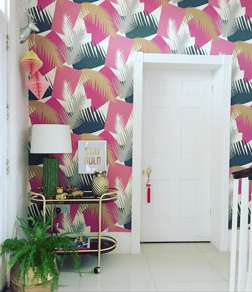 Photography provided by Lisa Dawson Interior Styling (Wallpaper is Deco Palm by Cole & Son)