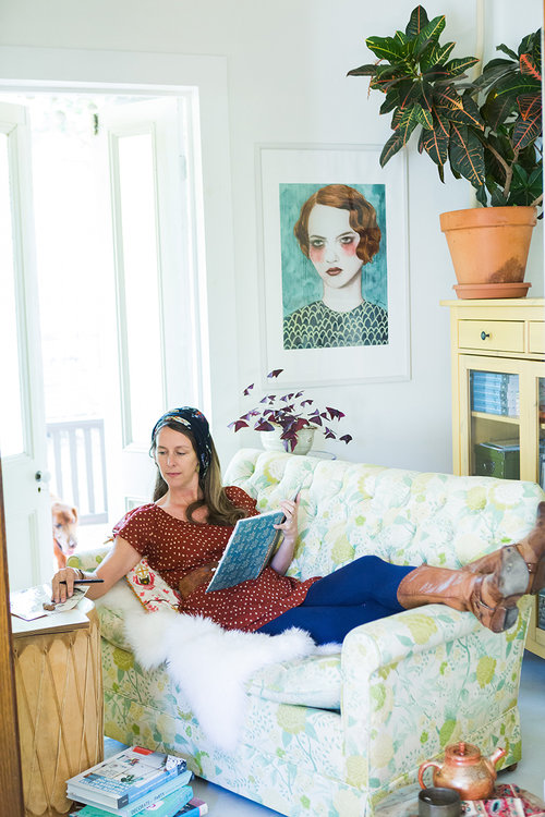 Desha Peacock of  Sweet Spot Style  in one of her creative spaces.