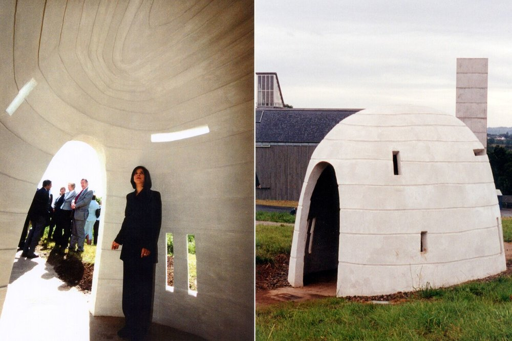 Silo - first public artwork at the Museum of Scottish Country Life Kittochside