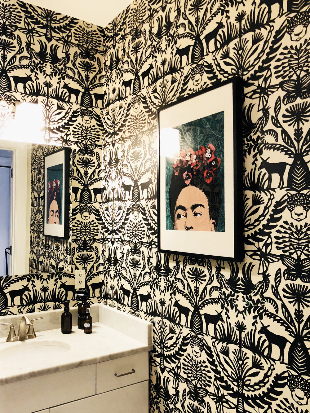 Karen's Wallpapered Bathroom