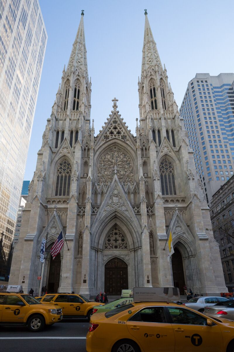 Pearl Grey Marble: St. Patrick's Cathedral, NYC