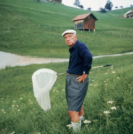 Mr. Nabokov in full lepidopterist glory.
