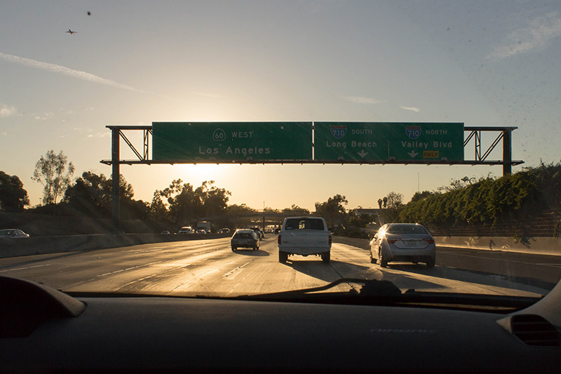 Phase 1: Warm up the camera beginning with freeway shots.