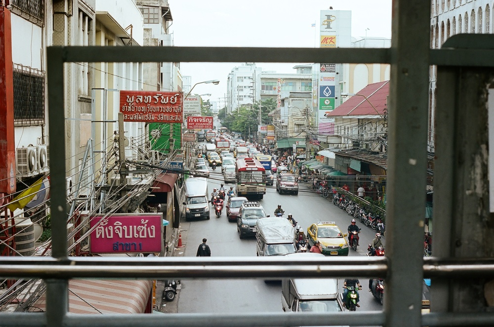 Bangkok in the day on our way to the Sky Train