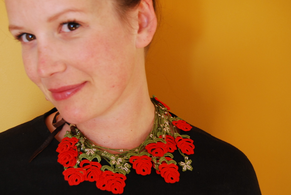 Kisa Kollections Lace Statement Necklace