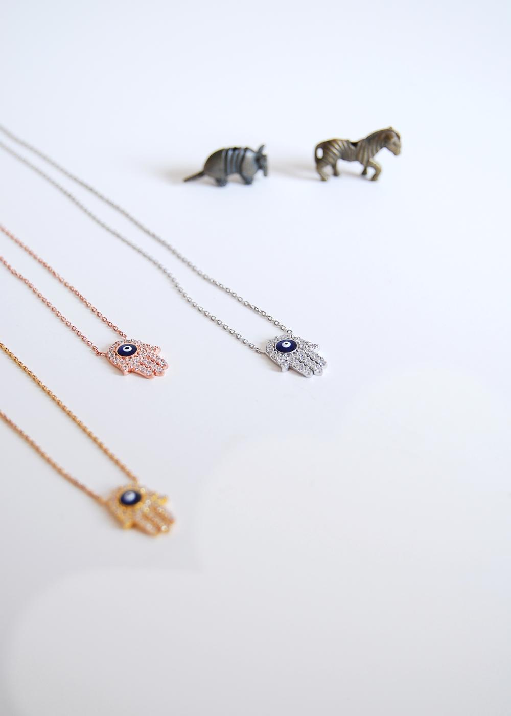 Hamsa + Evil Eye necklaces