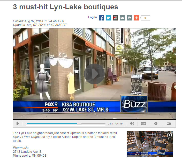 """FOX 9 NEWS """"the BUZZ"""" WITH ALI KAPLAN // 3 MUST HIT LYNLAKE BOUTIQUES"""
