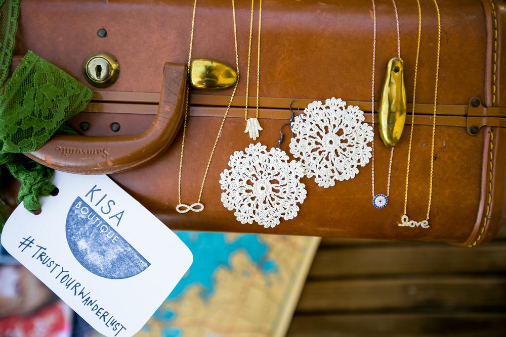 OYA handmade lace earring $24 // sterling silver necklaces $48 // motifs: Infinity, Hamsa, Evil eye and Love