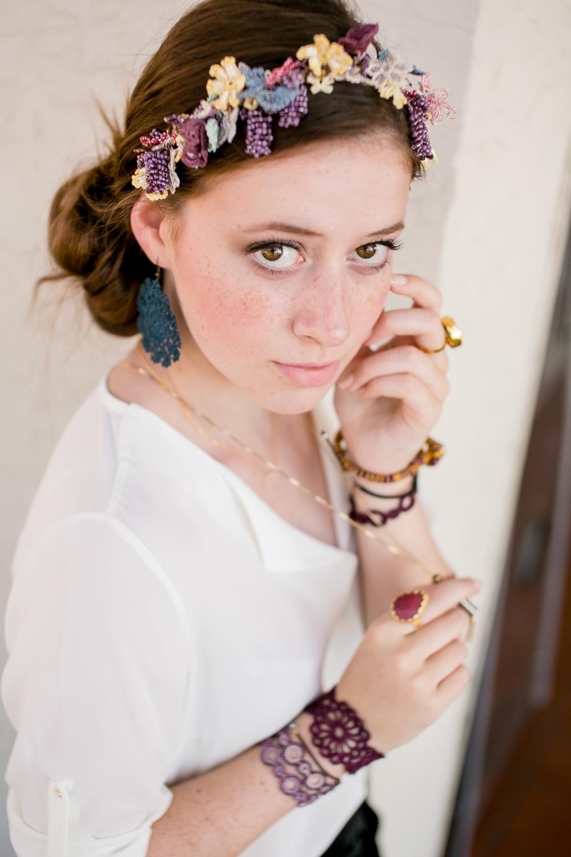 kisa boutique shop dokuma handmade lace flower crown boho handmade artisan jewelry clothing fashion