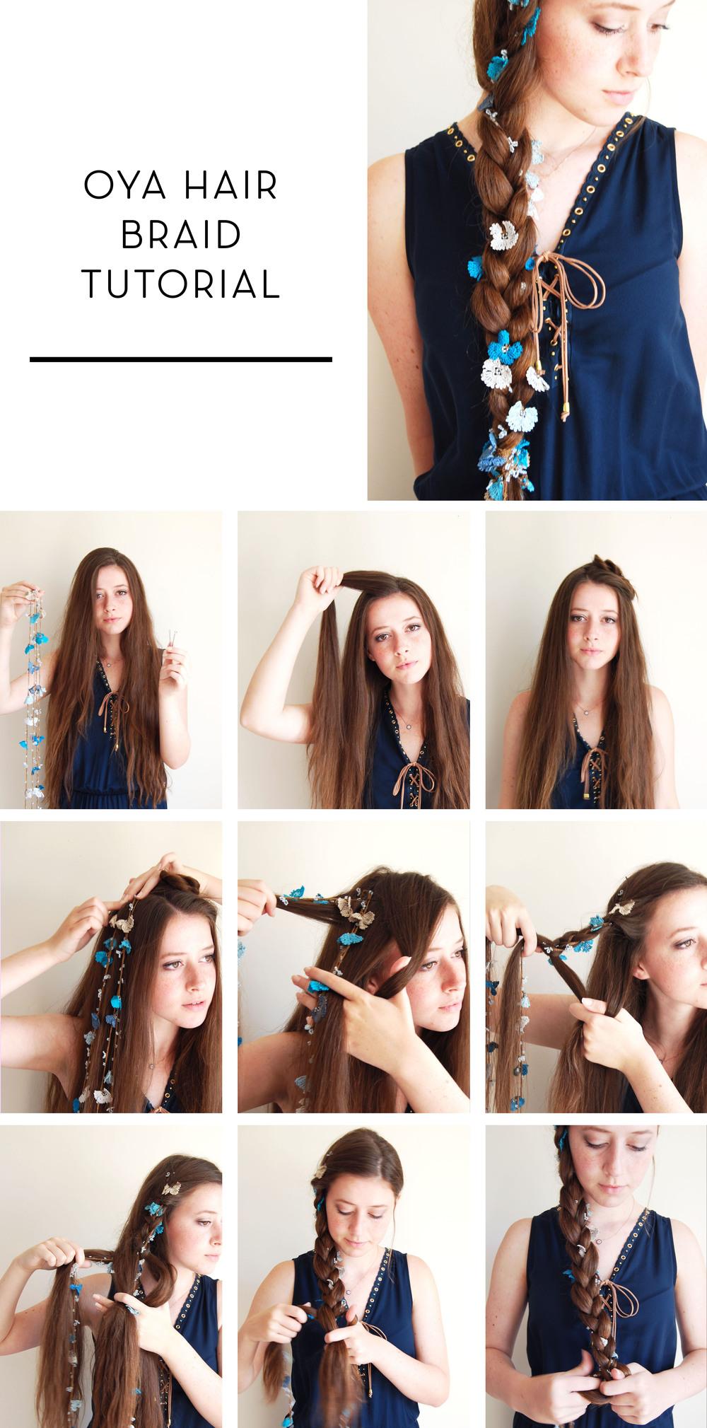 braid tutorial oya lace bridal boho bohemian messy chic