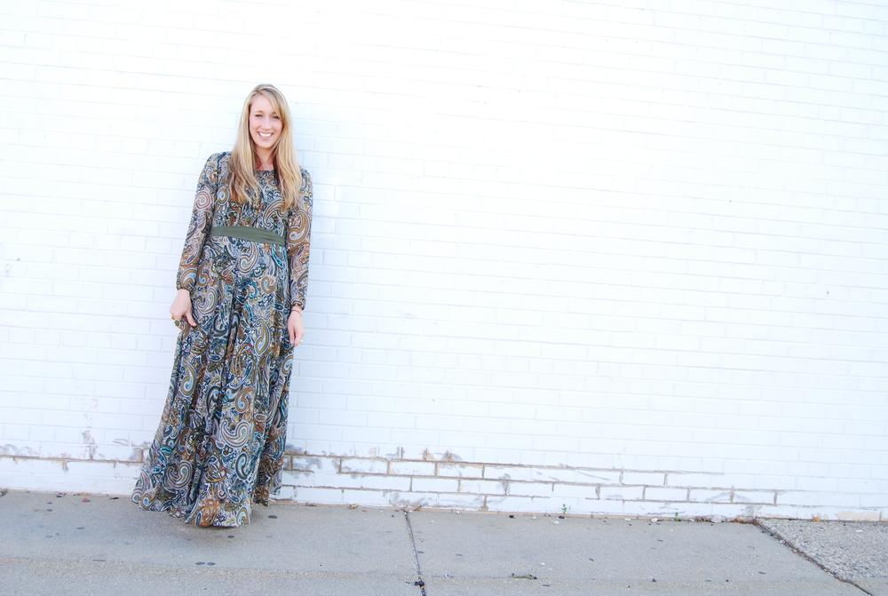 Paisley Maxi Dress $128