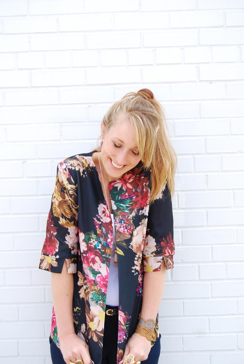 floral print jacket $128
