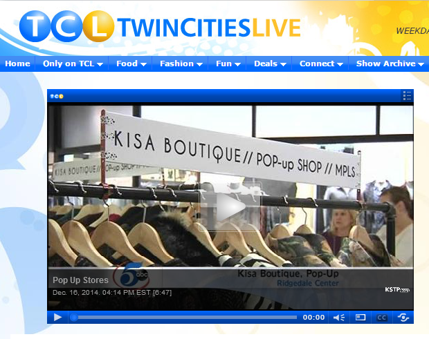 KISA POP-UP SHOP AT RIDGEDALE CENTER // TWIN CITIES LIVE WITH ALI KAPLAN // DECEMBER 2014