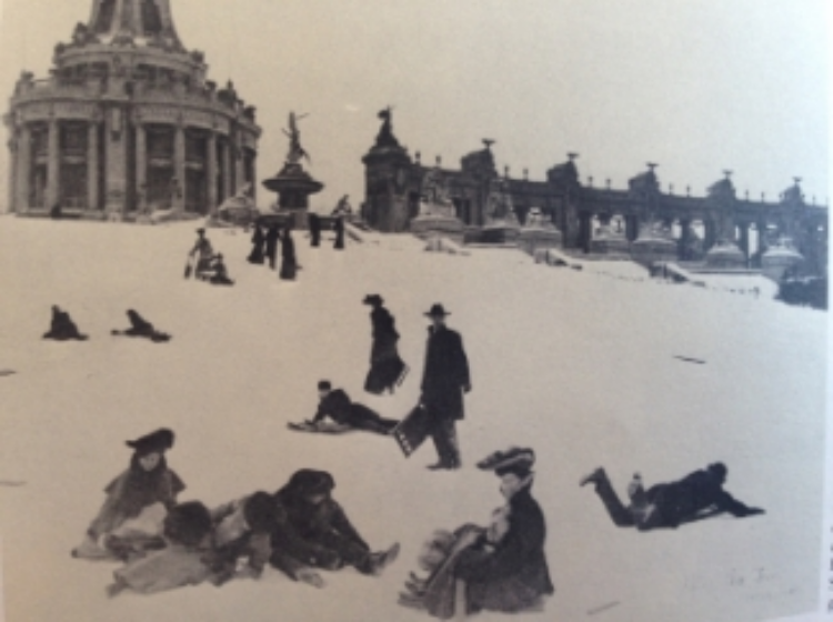 Look at the way he holds that sled...just look at it.  (Photo circa 1905, found in Forest Park; Loughlin & Anderson)