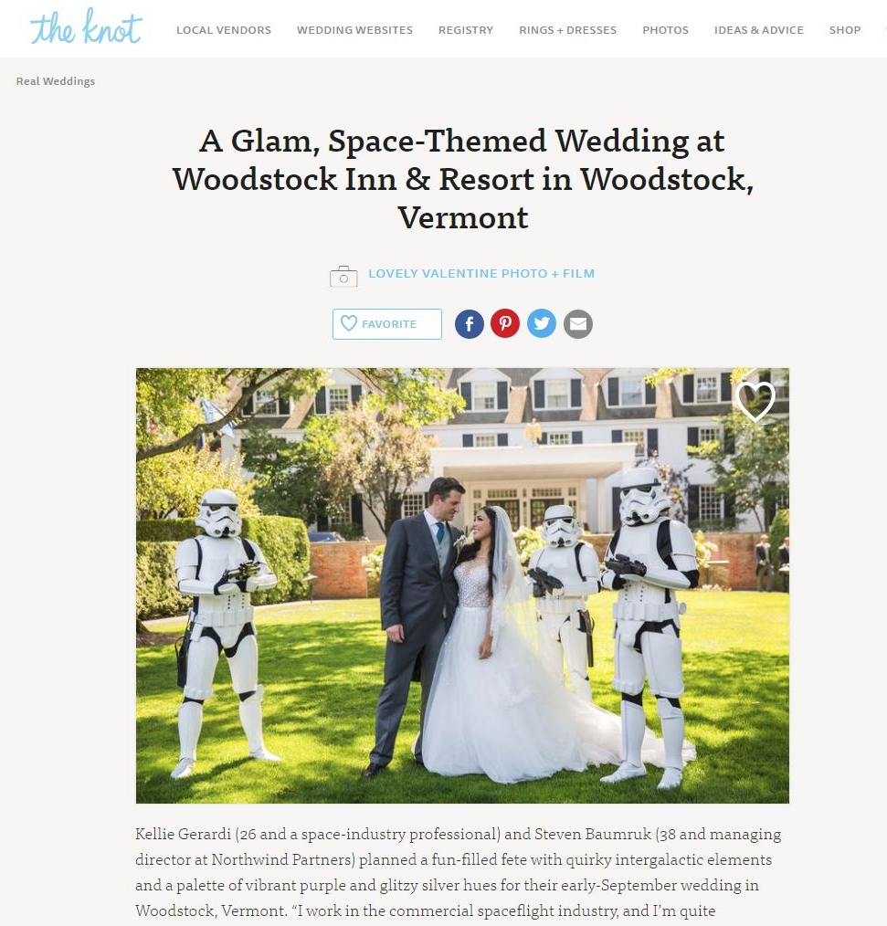 Published! Kellie + Steven\'s Space-Themed Wedding on the Knot ...
