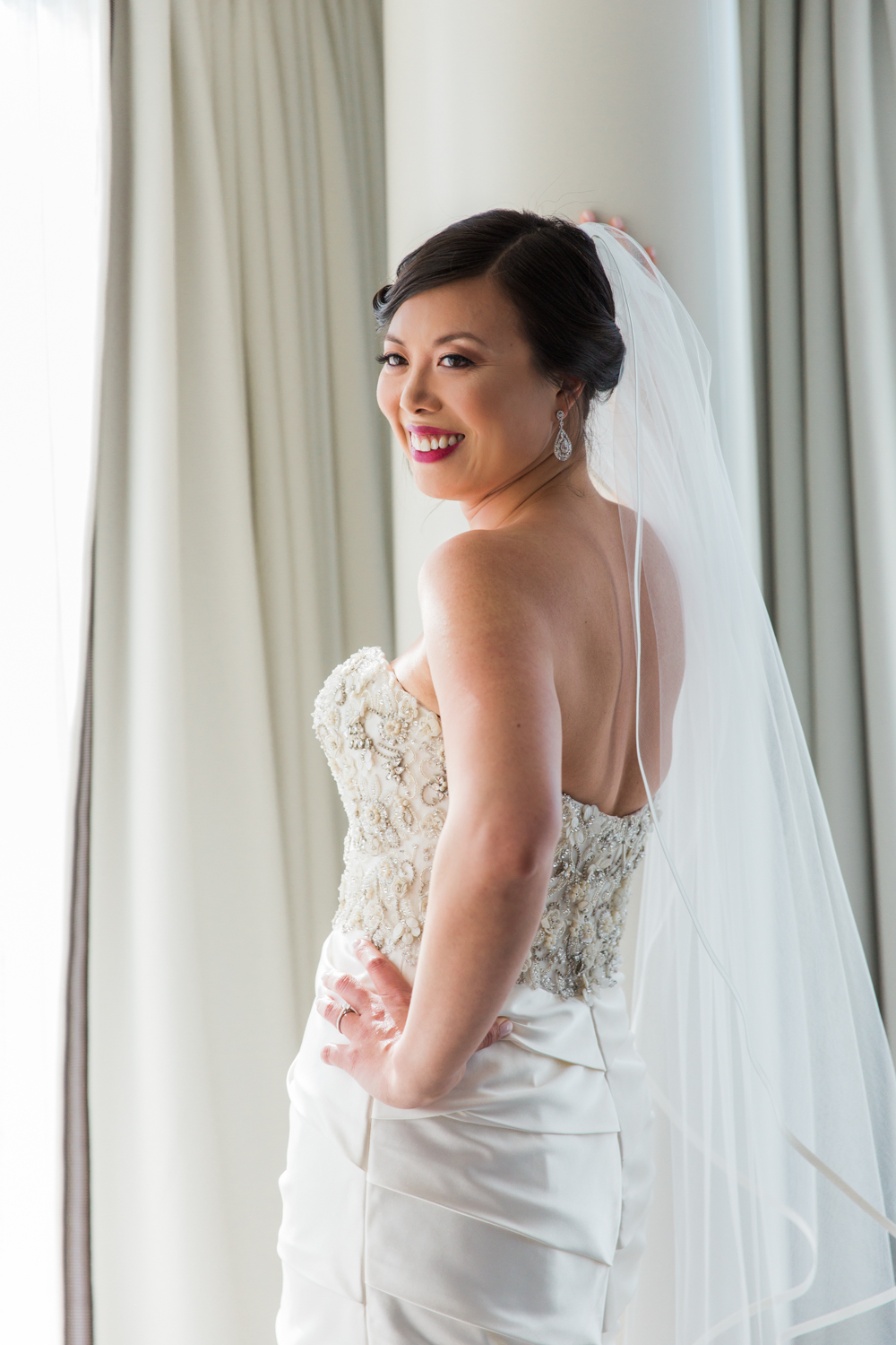 Liberty Hotel Wedding Photography kenneth pool bride gown