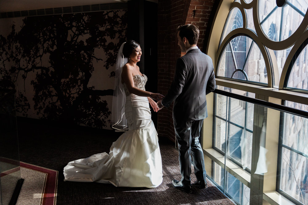 Liberty Hotel Wedding Photography first look