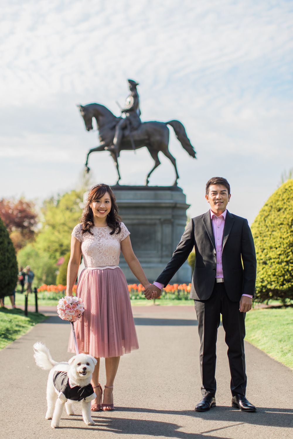 boston common gardens engagement session