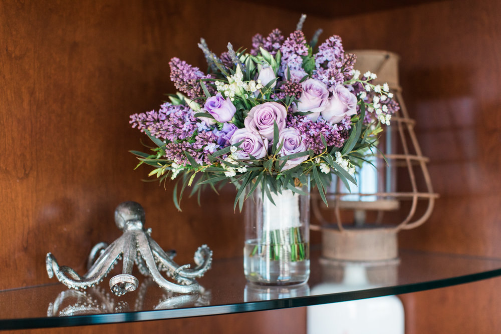 boston marriott long wharf wedding copper penny flowers