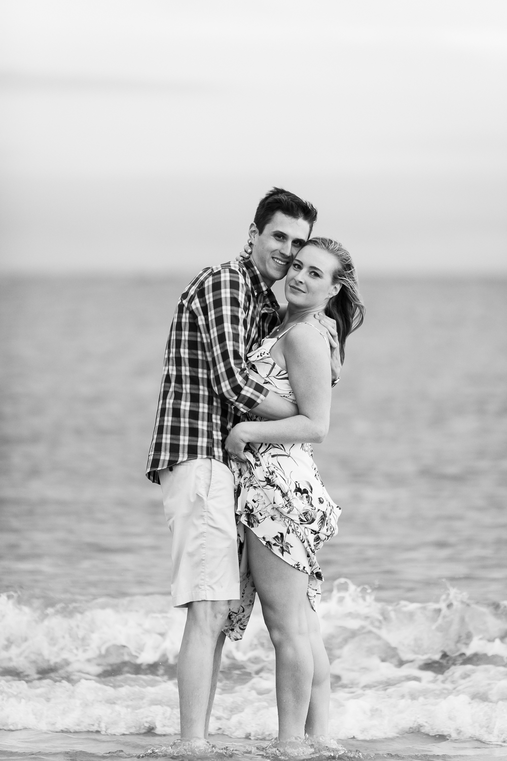 crane beach ipswich engagement session