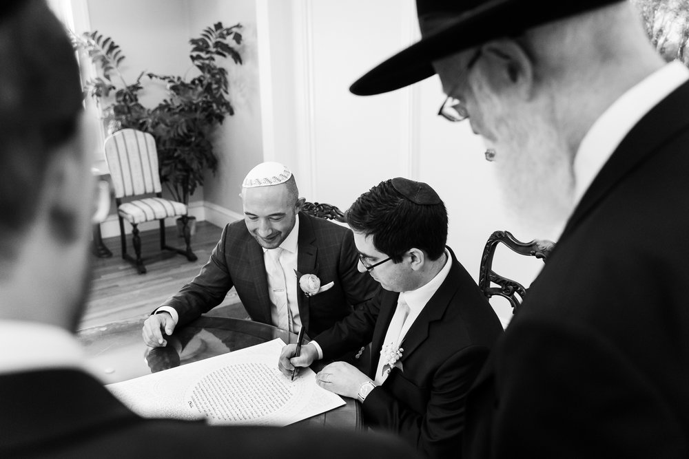 tupper manor wedding photos ketubah signing