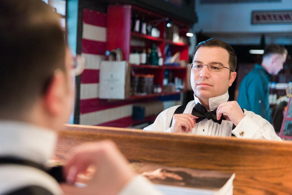 ball and buck boston barber shop wedding