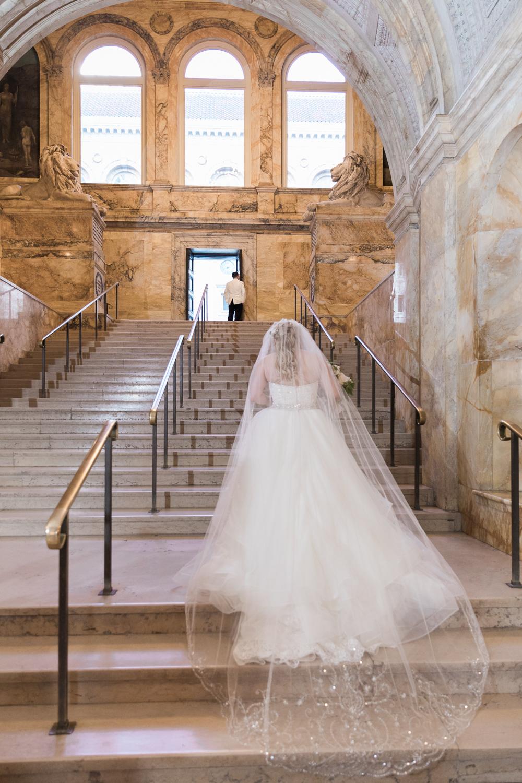 boston public library wedding photos