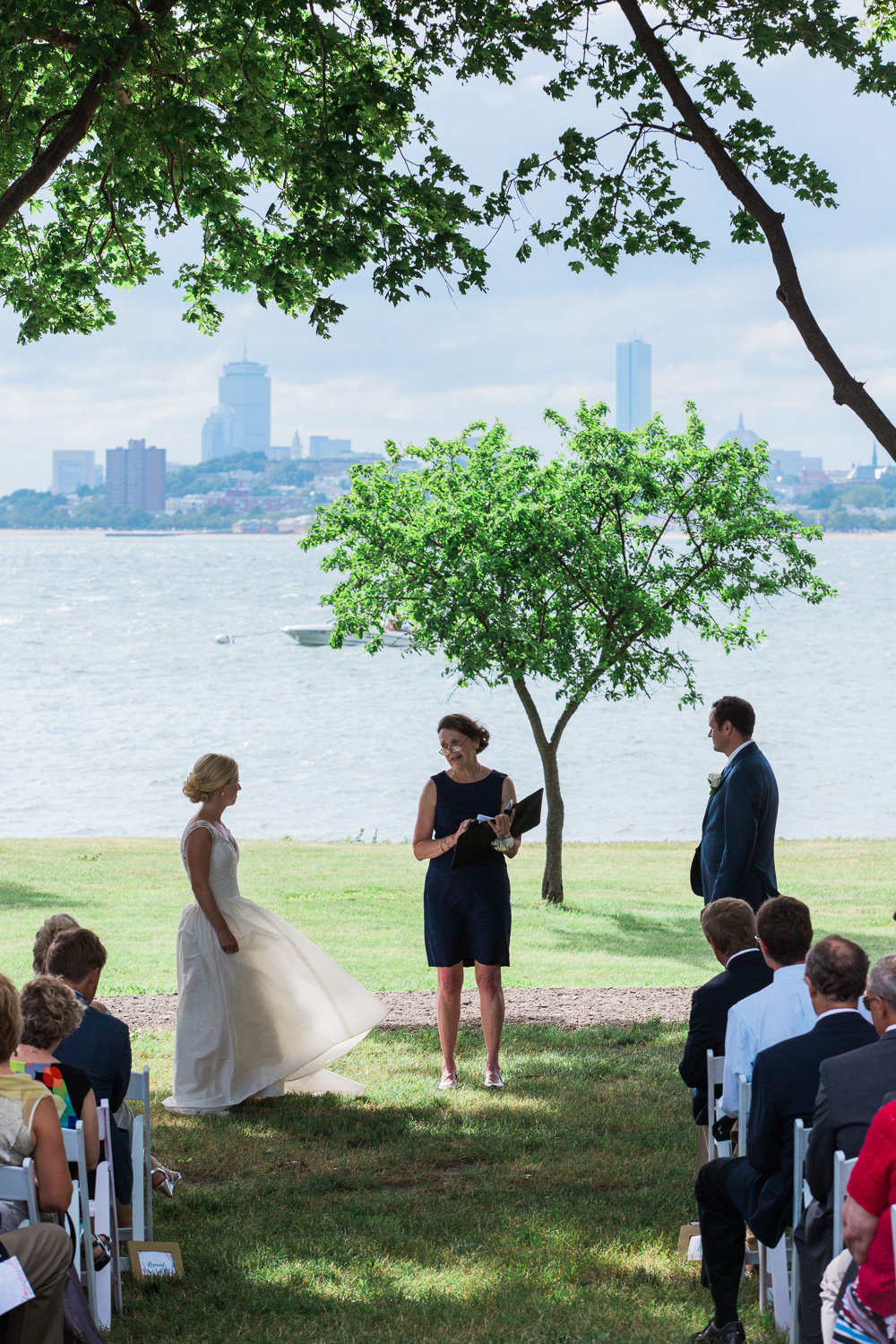 Thompson Island wedding photo