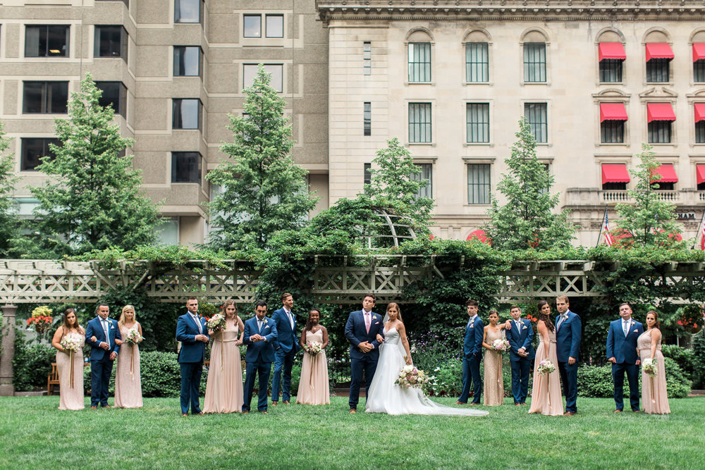post office square wedding photos