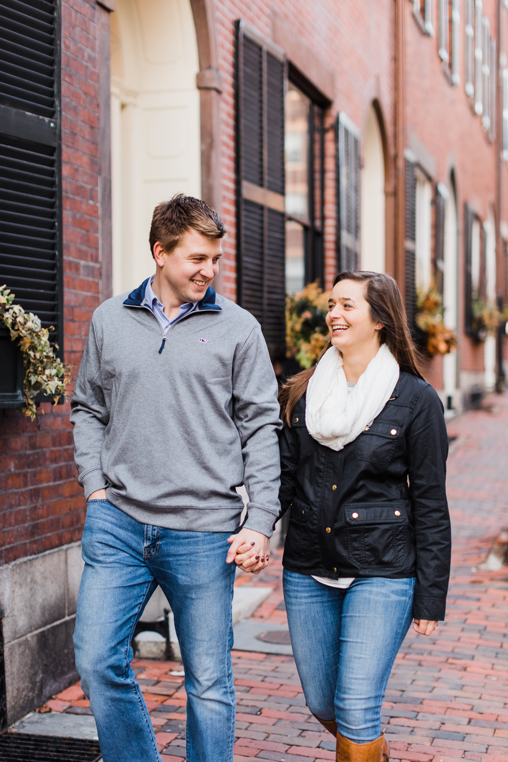 beacon hill engagement session photos